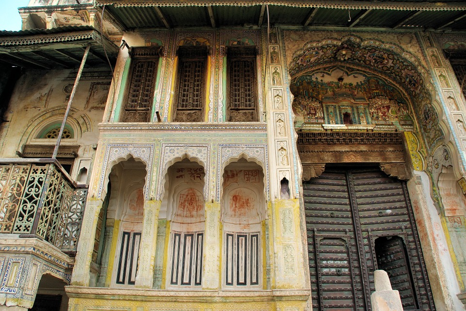 Shekhawati, India. Abandoned Mansions