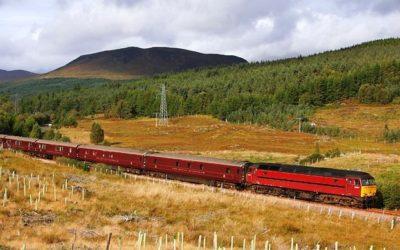 Take a tour of Scotland on this luxurious train