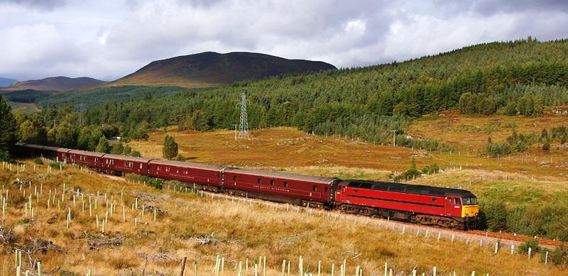 Take a tour of Scotland on this luxurious train