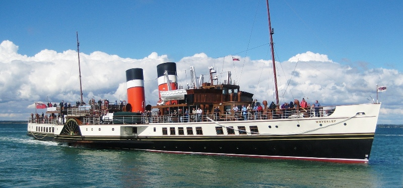 Take a trip on the last seagoing paddle steamer in the world