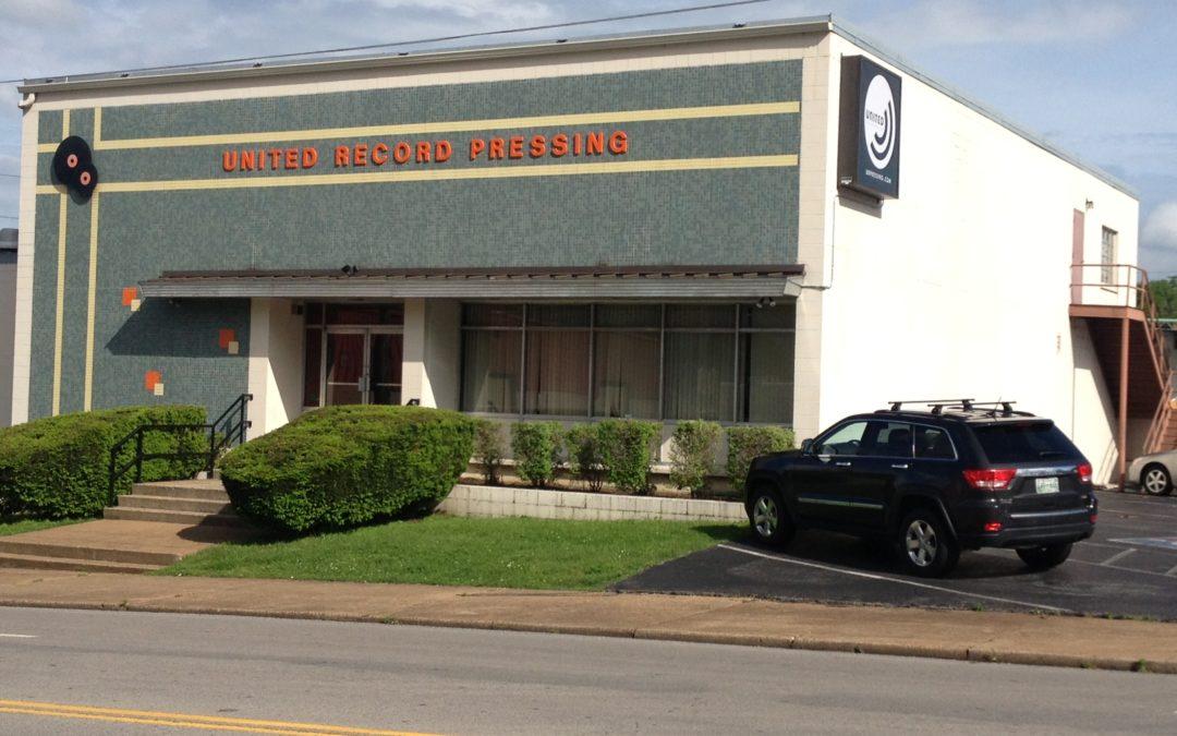 United Record Pressing. Nashville TN