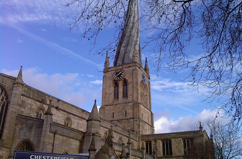 Visiting the UK: The Crooked Spire, Chesterfield