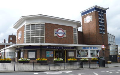 Visiting London. Bounds Green Tube Station