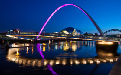 Vising the UK: Gateshead Millennium Bridge