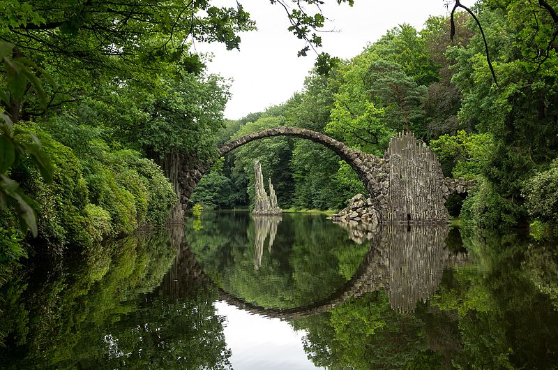 The Rakotzbrücke, Gablenz. Germany